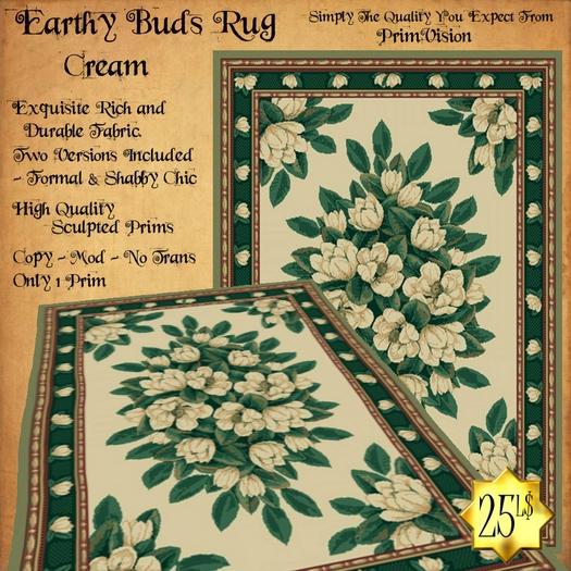 *PV* Earthy Buds Rug - Cream