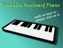Playable Keyboard Piano