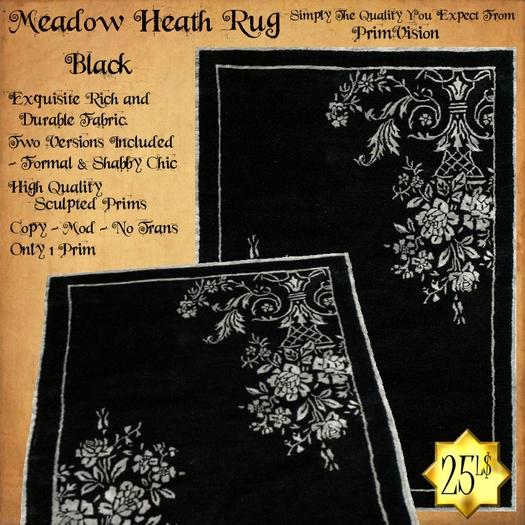 *PV* Meadow Heath Rug - Black