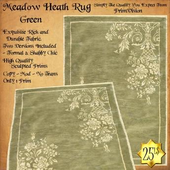 *PV* Meadow Heath Rug - Green