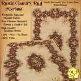 *PV* Rustic Country Rug - Moorland