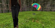 mesh mylar Rainbow Balloon