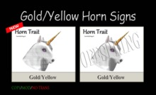 GOLD/YELLOW HORN SIGNS & OFFSPRING