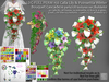 LDG-FULL PERM 156 Calla Lily & Poinsettia Winter Bouquet Cascade /16 parts/178 textures ver./Builderkit
