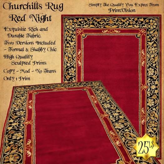 *PV* Churchills Rug - Red Night