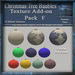Texture Add-on F For Christmas Tree Baubles V1 Mesh Pack, Christmas Holiday Builders Decoration Kit,Textures Full Perm