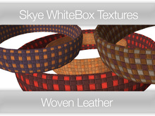 **Skye WhiteBox Textures  Big Value! 131 Woven Leathers -  Full Perms Leather Textures