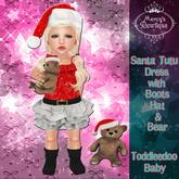 Mercy's Bowtique Toddledoo Santa Tutu Dress