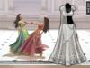 Zaara : [Mesh] Chandni lehenga *ivory silver* (+maitreya)