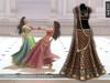 Zaara : [Mesh] Chandni lehenga *burgundy* (+maitreya)