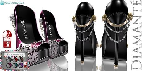 :Diamante: Masquerade - SLink High Feet - Rigged
