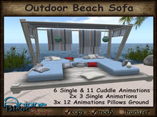 Beach Daybed Sofa with Canopy - Outdoor - Terrace - Promo Price -