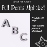 {Touch of Grace} - Full Perms Mesh Letters