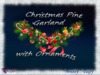 susu-christmas pine garland with ornaments