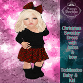 Mercy's Bowtique Christmas Toddledoo Sweater Dress
