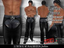Leather Biker Chabs / Jeans 'Rivets-Corded' - Marketplace Super Special PROMO Men