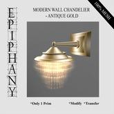 Modern Chandelier Wall Lamp - Pale Gold  (1 Prim, 100% Mesh)