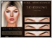 .:DA:. Eyebrow Arched Black