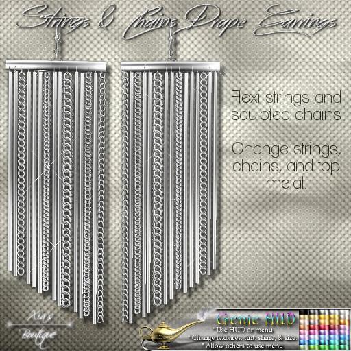 Strings & Chains Drape Earrings