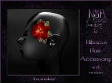 NSP Hibiscus Hair Flower Bubblegum boxed