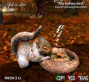 """Aphrodite """"My babies nest"""" Autumn decoration"""