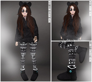 WINTER PROMO ::Zup:: Mesh Winter Outfit Bear Black