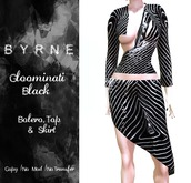 (BYRNE)Gloominati Black Outfit (BOXED)