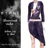 (BYRNE) Gloominati Violet Mesh Outfit