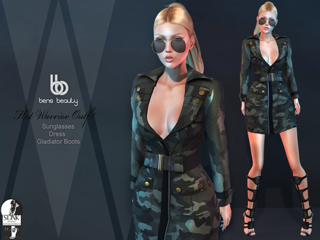 Bens Boutique - Hot Warrior Mesh Outfit