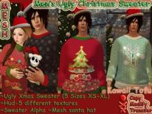 ~Kawaii Tofu~Ugly Christmas  Sweater-Men's