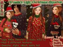 ~Kawaii Tofu~Ugly Christmas Sweater-Women's