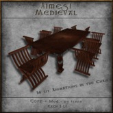 ACE Mesh Medieval Rustic Table + Folding Chair