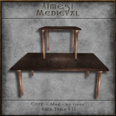 ACE Mesh Medieval Table Set