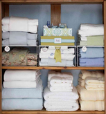 Pastel Linen Closet