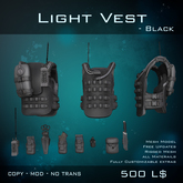 [BW] - Light Vest - Black
