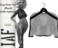 IAF Sexy Sheer Top (Black) (With Appliers)