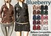 Blueberry mins leather jackets