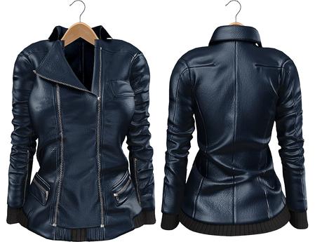 Blueberry Mins - Leather Zipped Jackets (Belleza Venus Compatible) Midnight