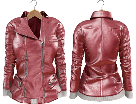 Blueberry Mins - Leather Zipped Jackets (Belleza Venus Compatible) Pink