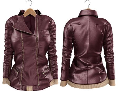 Blueberry Mins - Leather Zipped Jackets (Belleza Venus Compatible) Purple