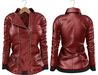 Blueberry Mins - Leather Zipped Jackets (Belleza Venus Compatible) Red