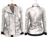 Blueberry Mins - Leather Zipped Jackets (Belleza Venus Compatible) White