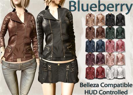 Blueberry Mins - Leather Zipped Jackets (Belleza Venus Compatible) FAT PACK
