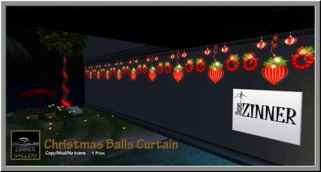 Zinner Gallery - Christmas Balls Curtain
