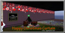 Zinner Gallery - Happy Christmas Curtain