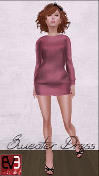 Pink Knit Sweater Dress for Eve Mesh Body (slim & pulpy)