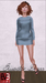 Baby blue dress ad front