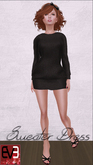 Black Knit Sweater Dress