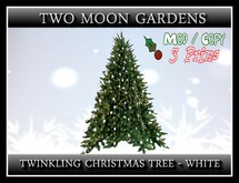 Twinkling Christmas Tree - White*