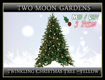 Twinkling Christmas Tree - Yellow*